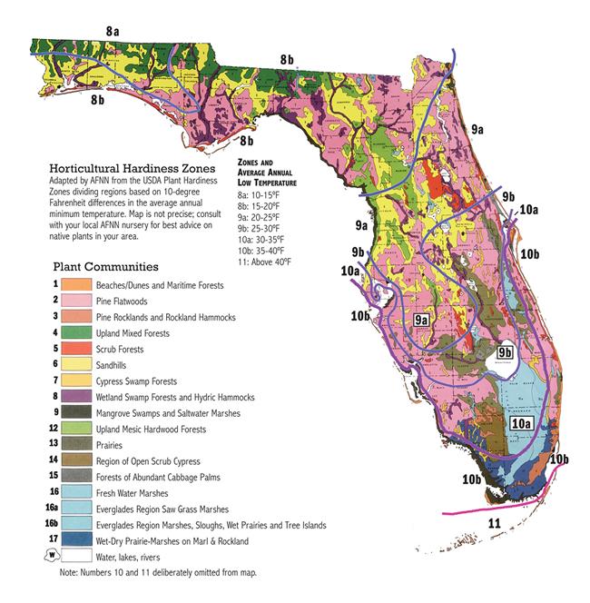 Florida Horticulture Hardiness Zones